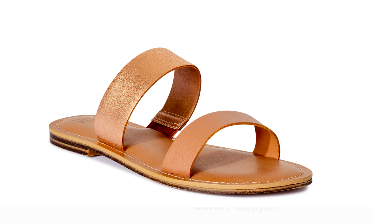 Time and Tru Women's Two Band Sandals